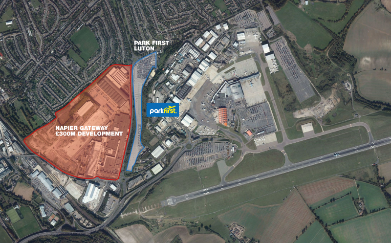 luton airport map
